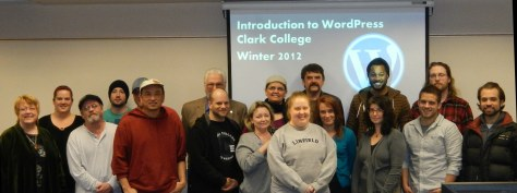 The world's first full-credit college course dedicated solely to WordPress at Clark College, Winter Quarter 2012, led by Lorelle VanFossen.