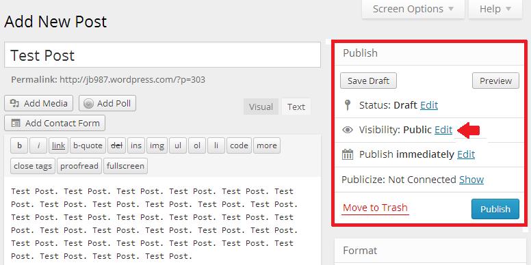 Making sticky post through publish panel