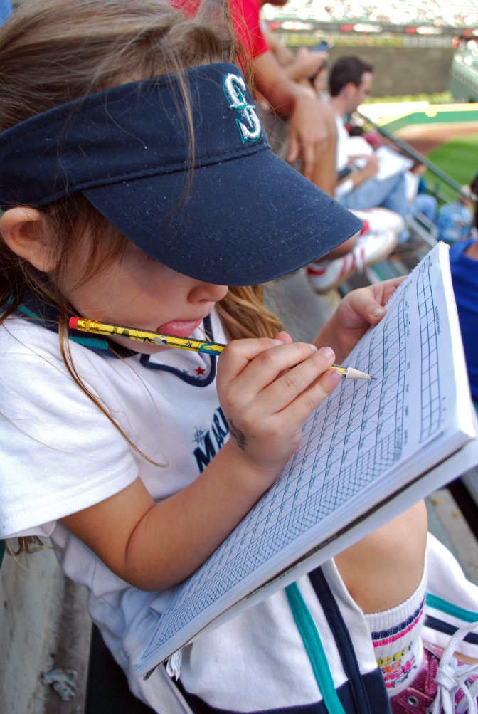 Picture of a girl keeping score