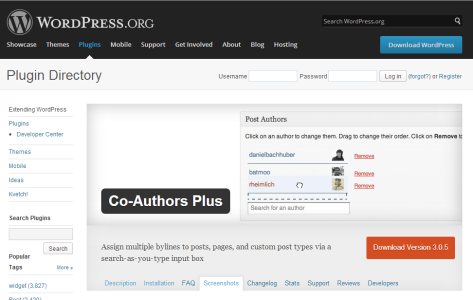 The Co-Authors Plus Plugin Download Page
