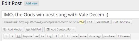 Text Editing Options in WordPress.