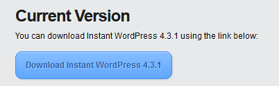 This is the Instant WordPress download page.