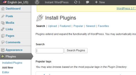 Clcik the plugins tab.