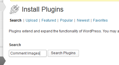 Search by typing your intended plugin in the search bar.