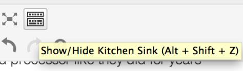Show Hide Kitchen Sink Copy