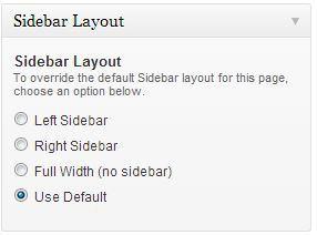 Sidebar Layout