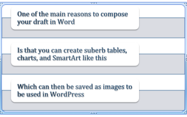 Word SmartArt example
