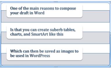 Word SmartArt example