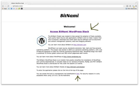 Bitnami installation complete notification.