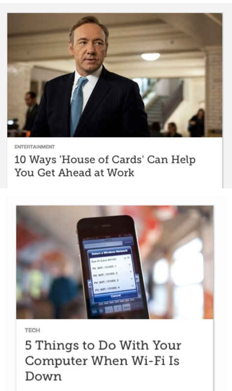A screen shot of two blog posts that start with a number