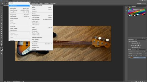 bass guitar in photoshop