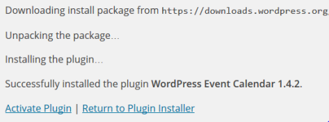 A screenshot of the activate Plugin page in WordPress