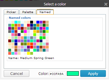 This is a picture of the Named color picker.
