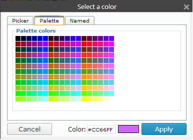 This is a picture of the Palette color picker.