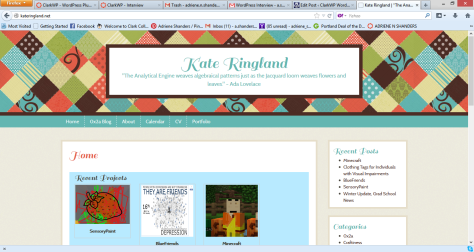 Screenshot of Kate Ringland's WebPage