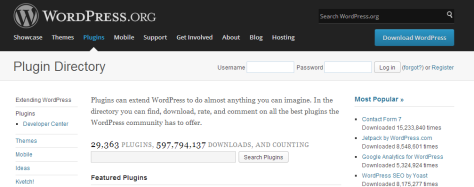 A screenshot of the official WordPress.org Plugins page