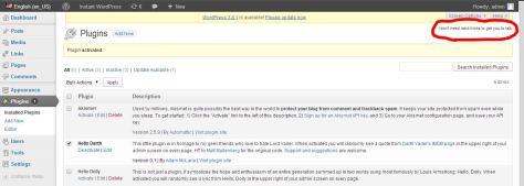 Example of the Darth Vader WordPress Plugin.