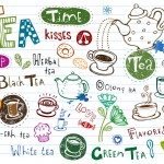 Graphic of multiple images all related to tea.