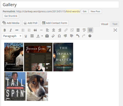 WordPress 3.9 now features live view of galleries in the Visual Editor.