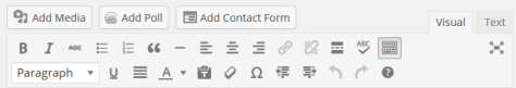 Changes to the Toolbar of the Visual Editor in WordPress 3.9.