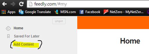 Add RSS feeds