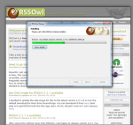 Screenshot of RSSOwl downloading