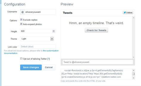twitter settings screenshot