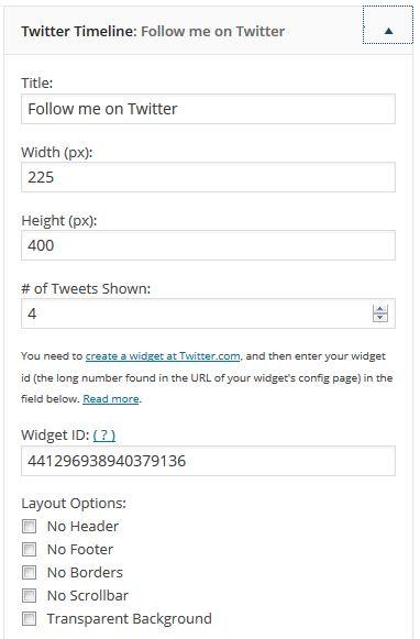 widget WP Twitter