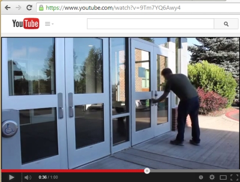 "Screen capture of YouTube showing the video ""Locked"" displaying the full URL."