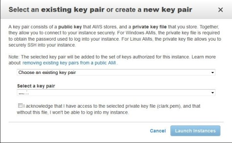Creating a Key Pair for SSH connections