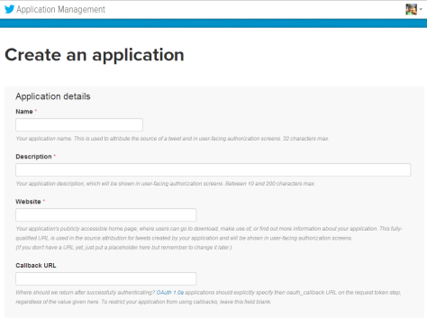 Twitter application manager