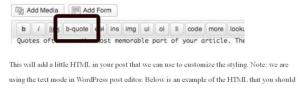Text b-quote Illustration in Text editor
