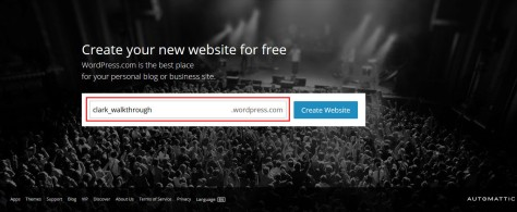 Landing page of WordPress.com