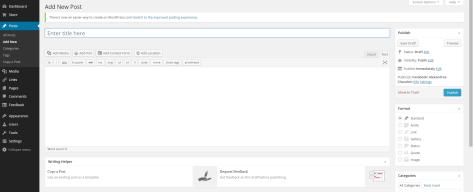 WordPress.com Add New Post Interface window.