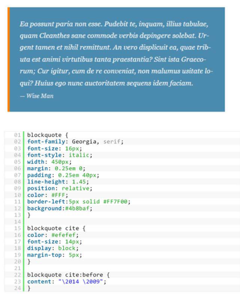 Blockquote with Related CSS