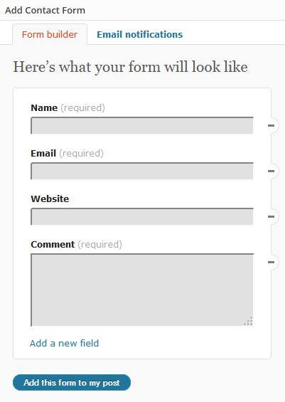 Contact Form Blank