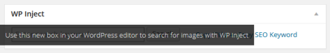 ImageInject Search Field