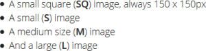ImageInject Media Sizes
