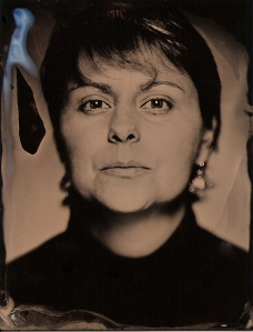 A tintype self-portrait of Jennifer Daly.