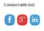 The second example of how the social media buttons can look in the Social Contact Display.