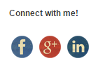 The third example of how the social media buttons can look in the Social Contact Display.