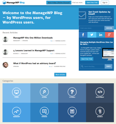 Manage WP Blog - screenshot.