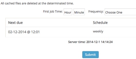 WordPress Fastest Cache Timeout Section
