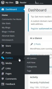 Screenshot of the add new section of the Panel Theme