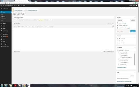 Before NextGen Gallery WordPress Plugin installed.