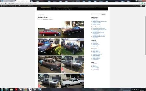 finished gallery using the WordPress Plugin