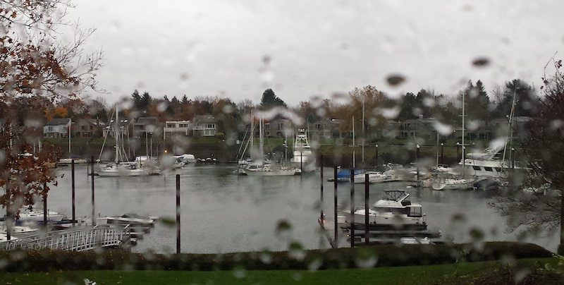 Amazing view from Cheri's home office on Hayden Island on a very stormy day.
