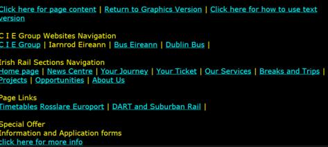 A screenshot of a very high contrast website.