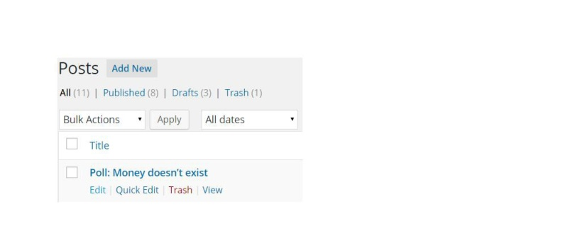 """This is a screenshot of selecting """"Edit"""" for a singular Post/Page in your WordPress backpage."""