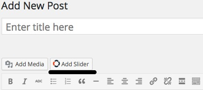 A add slider button next to the add media button.